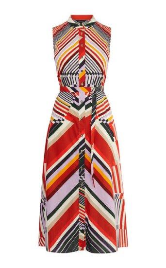 Vestido estampado abstracto