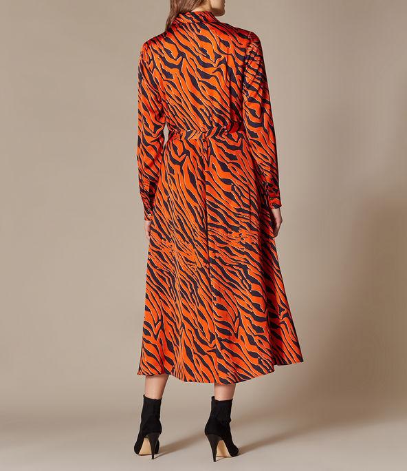 Vestido extralargo tigre
