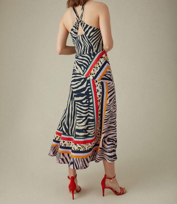 Vestido fular cebra