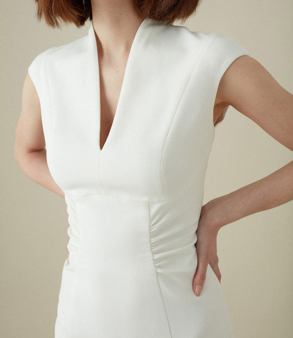Vestido cintura fruncida