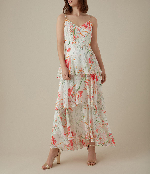 Vestido largo floral