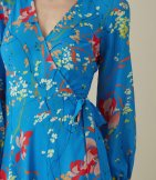 Vestido manga larga estampado floral