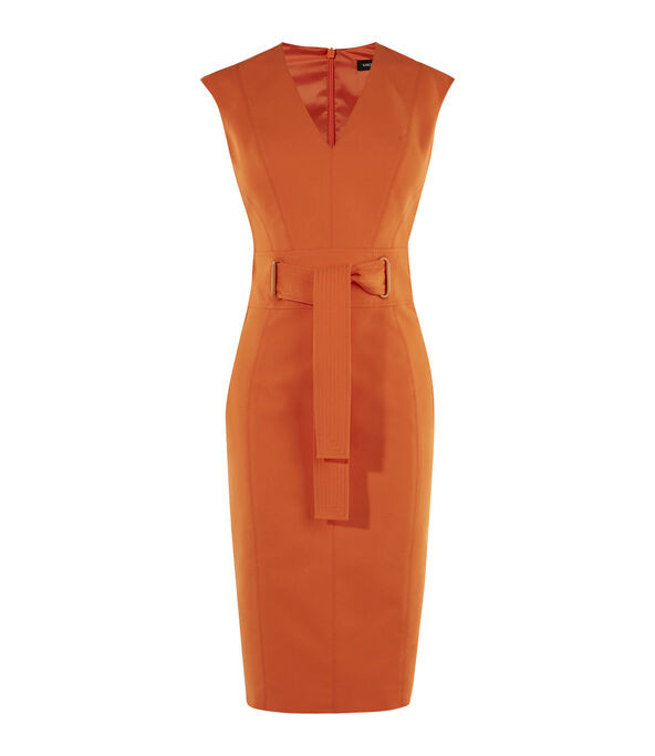 Tie Waist Pencil Dress