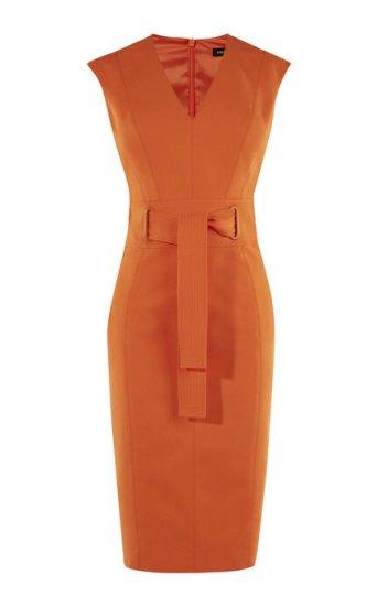 Tie Waist Pencil Dress