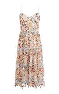 Sequin Lace Midi Dress
