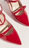 Zapatos salón tacón charol tiras