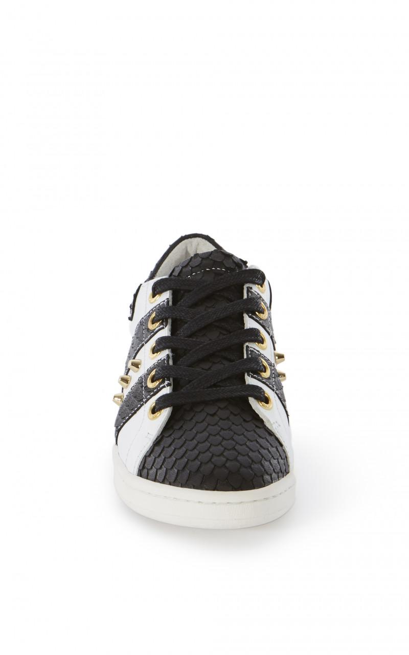 Zapatillas cordones piel