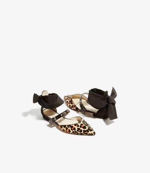 Zapatos planos potro