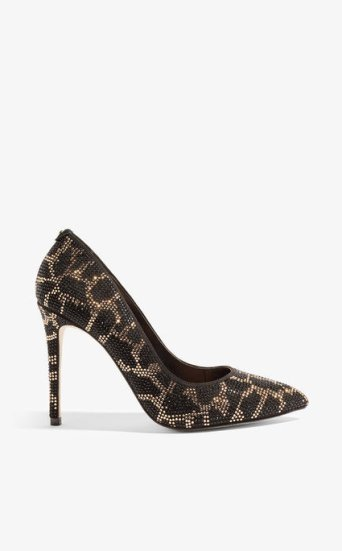 Zapatos salón adornos leopardo