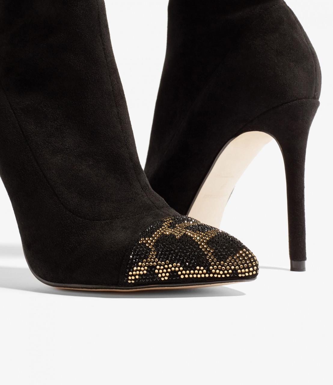 Botas punta leopardo