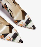 Zapatos tacón flores rayas
