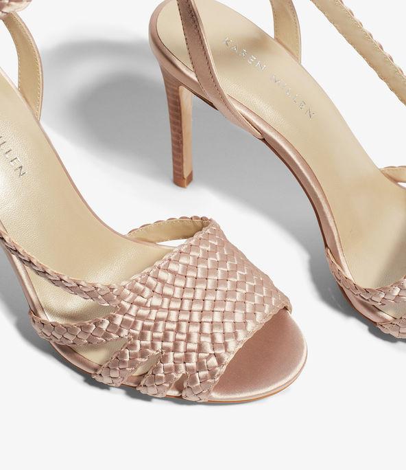 Sandalias tacón tejidas