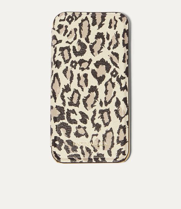 Funda folio iPhone leopardo