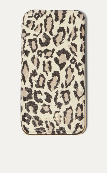 Funda folio iPhone leopardo