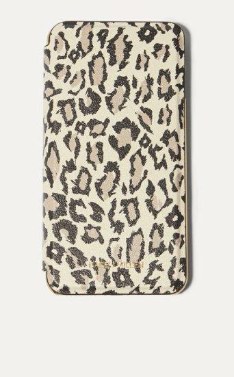 Funda folio iPhone Plus leopardo