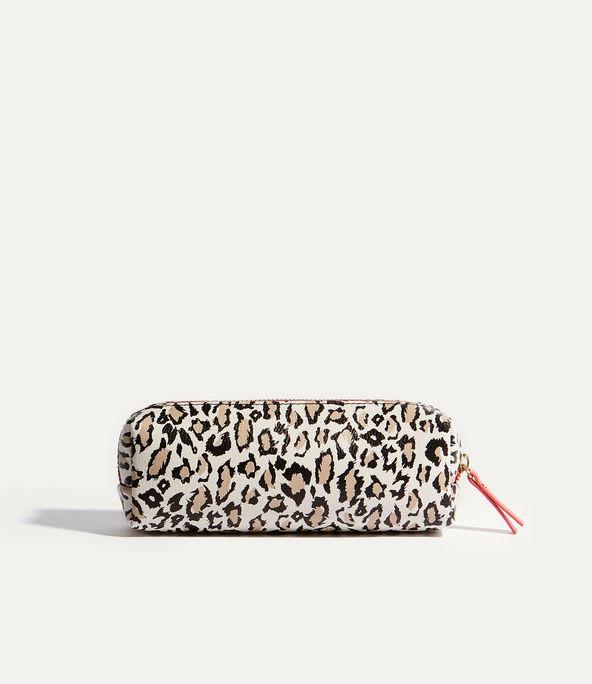 Neceser maquillaje leopardo