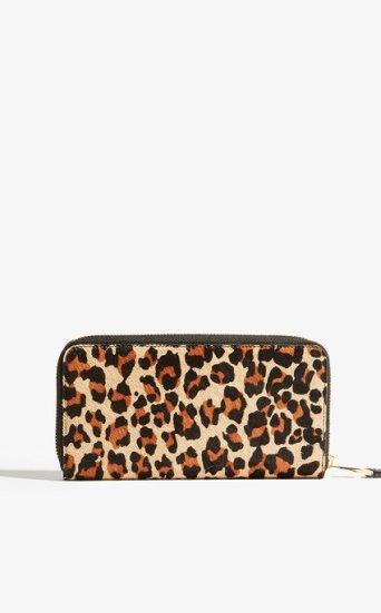Cartera cremallera leopardo