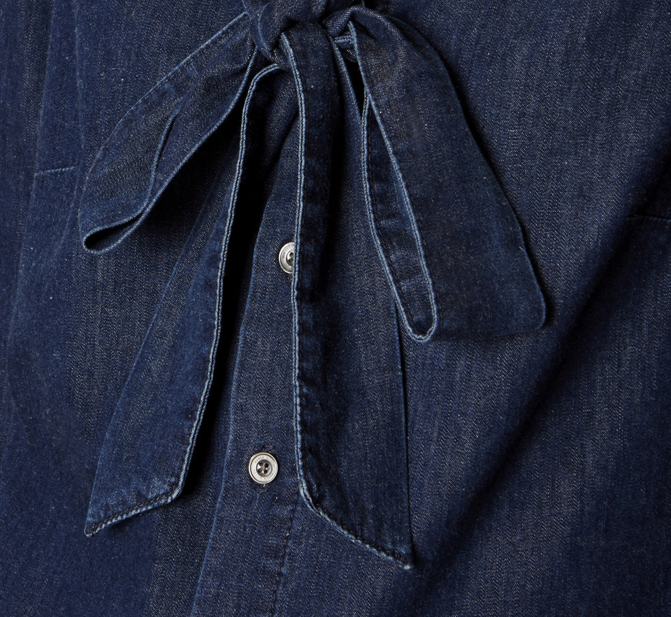 Camisa de mezclilla lazo