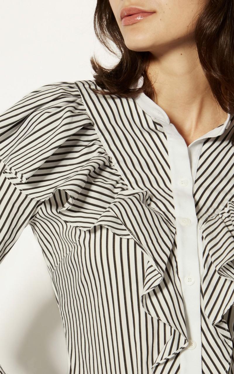 Camisa algodón volante