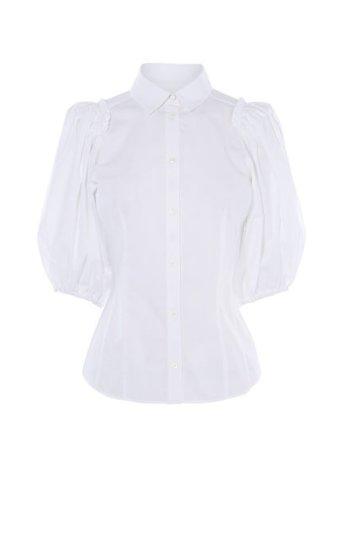 Camisa manga globo blanca