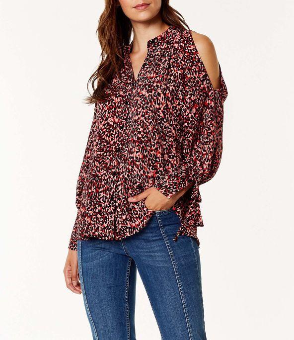 Camisa relajada leopardo