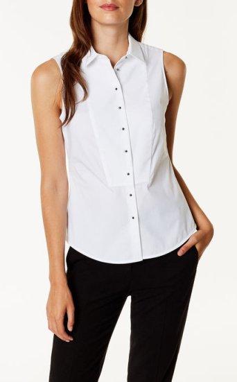 Camisa esmoquin sin mangas