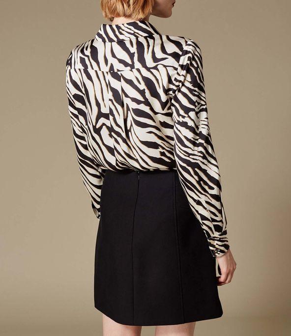 Camisa estampado zebra