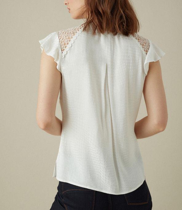 Blusa encaje lineal