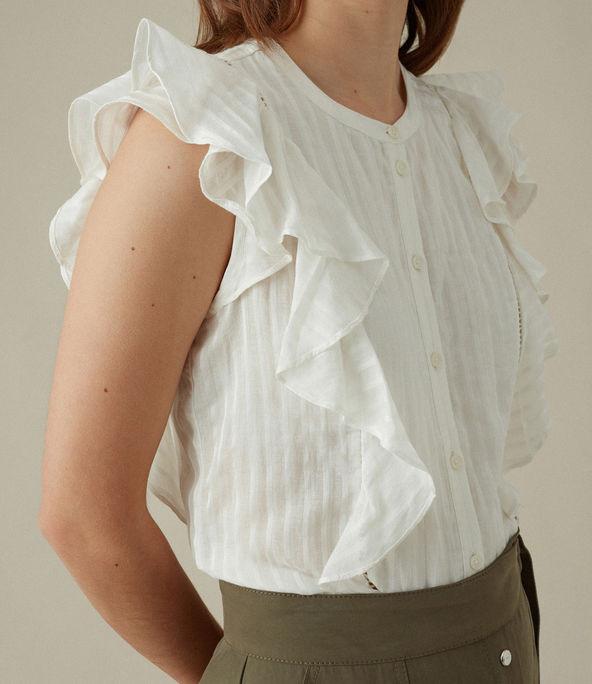 Blusa sin mangas volantes