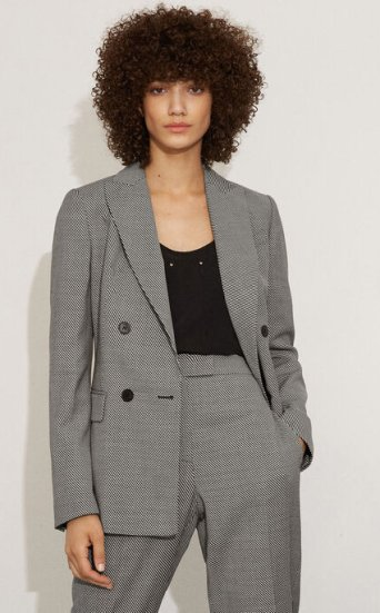 Graphic Textured Blazer