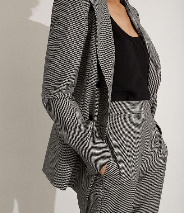 Graphic Textured Blazer