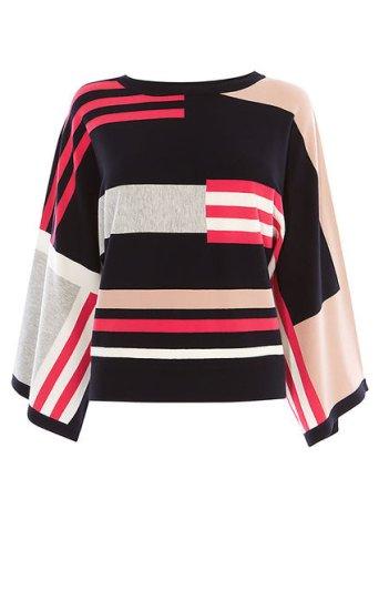 Jersey kimono bloques de color