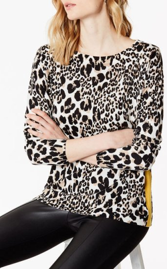 Top leopardo cachemir