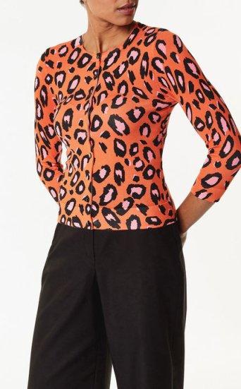Cárdigan leopardo