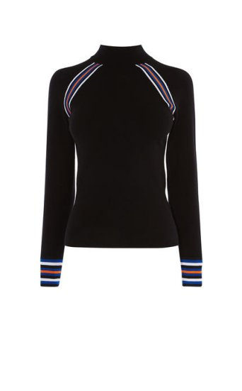 Jersey cuello alto deportivo