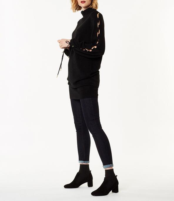 Vestido jersey manga farol