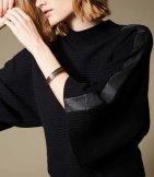 Poncho lana cuello redondo