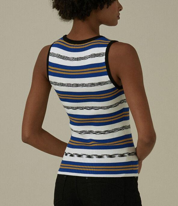 Striped Ribbed Vest