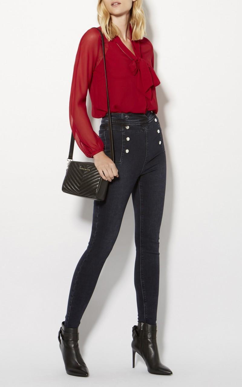 Jeans pitillo de cintura alta