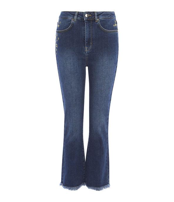 Jeans acampanados tiro alto