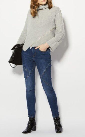 Jeans costura deportiva