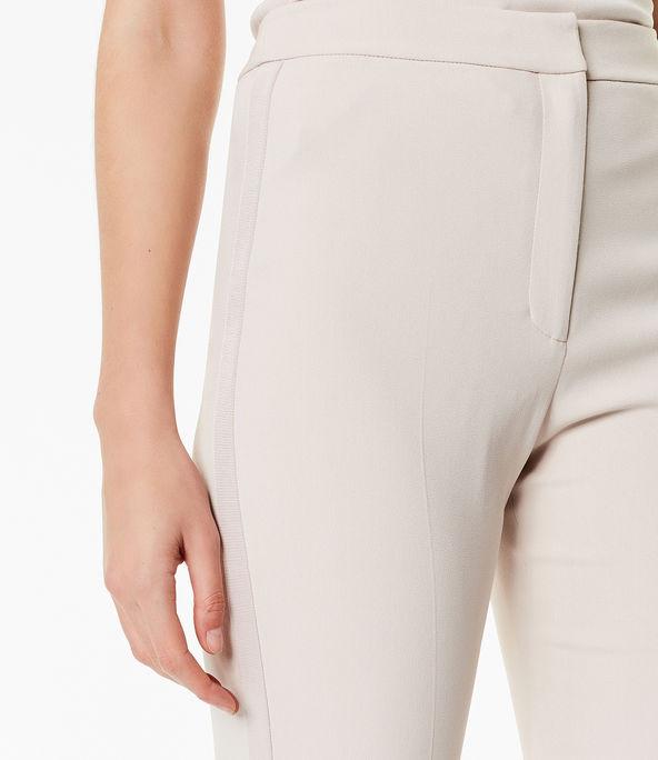 Pantalones entallados tejido italiano