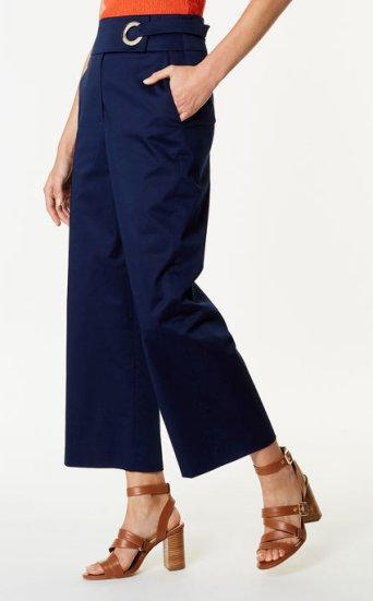 Pantalones ojal algodón