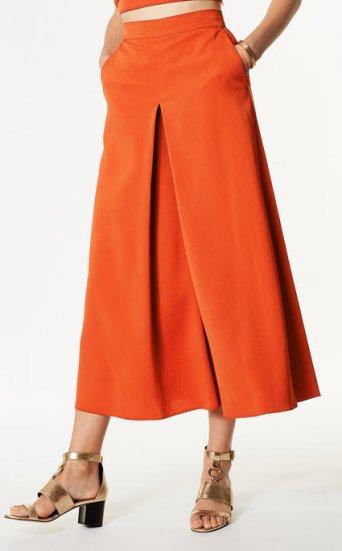 Falda pantalón pernera ancha