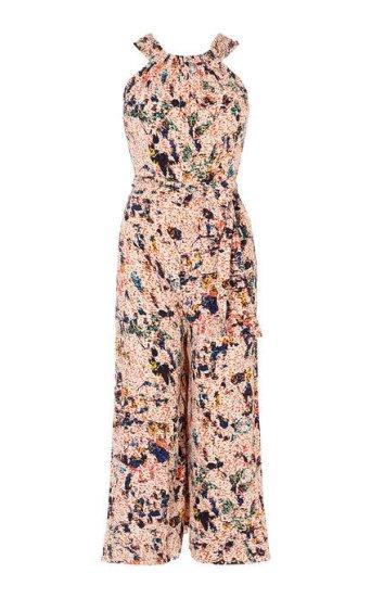 Jumpsuit floral pata ancha