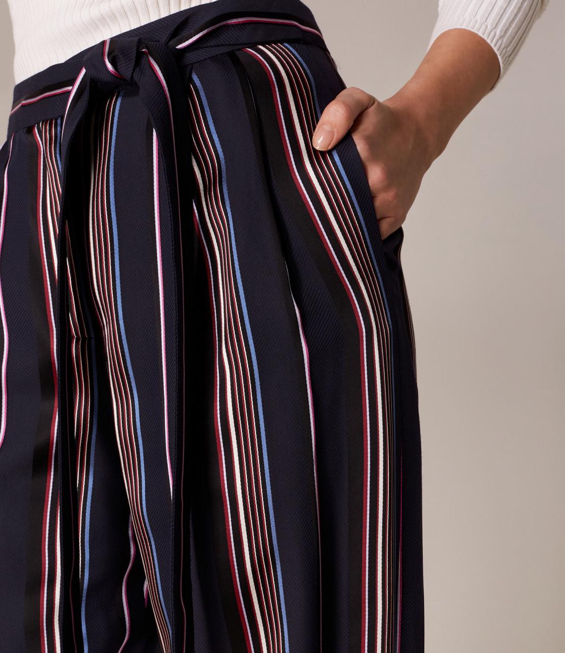 Pantalones pernera ancha rayas