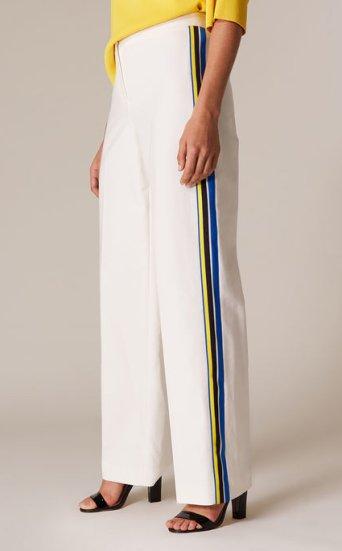 Pantalones anchos blancos