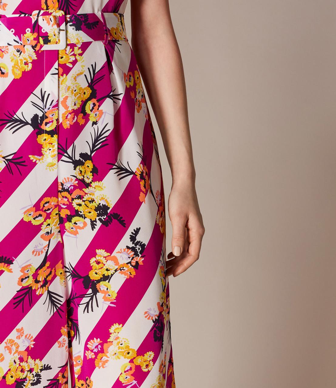 Jumpsuit rayado floral