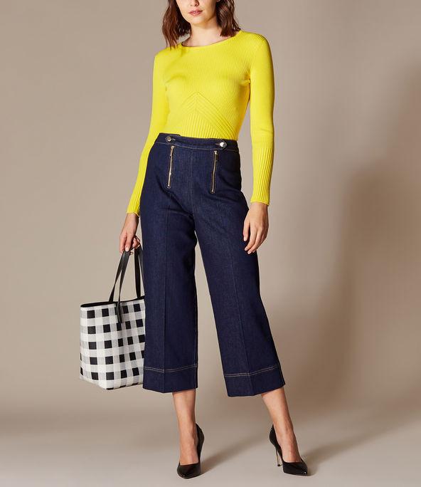Falda pantalón jeans campana