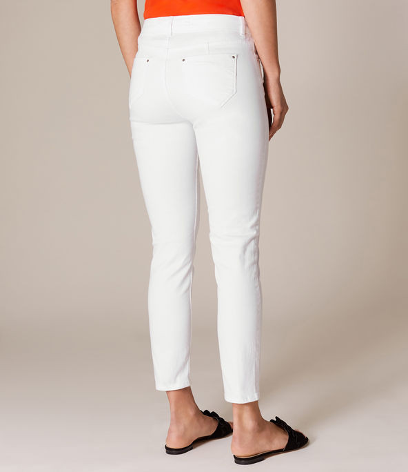 Jeans pesqueros blancos